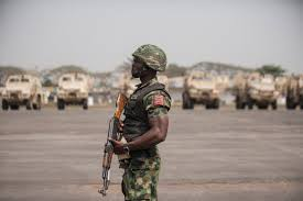 The Nigerian soldiers