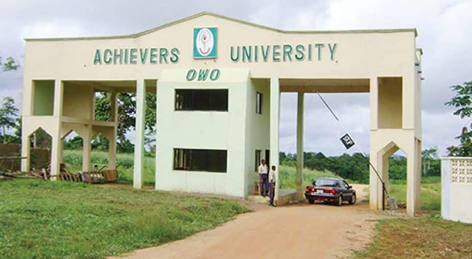 TOP PRIVATE UNIVERSITIES IN NIGERIA is Achievers University